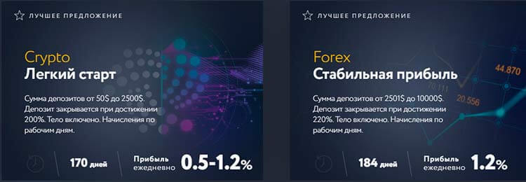 инвест планы advex fund